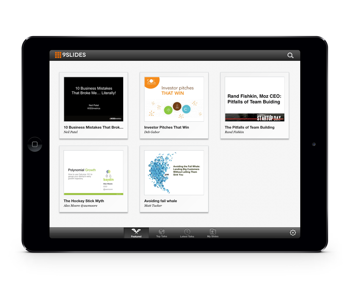 Here is a screenshot for 9Slides. This app helps you add videos to your presentations