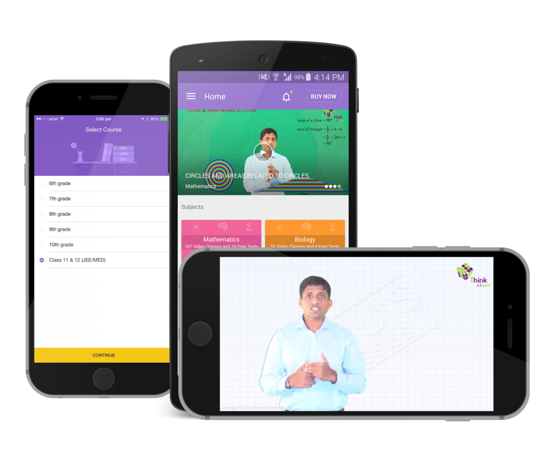Here are the screenshots of the Byjus Learning app. It helps students stay on top of subjects.